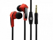 ZTE Majesty Stereo Inside The Ear Headphones Built In Hands Free Microphone And Dynamic Driver Red With Square Shape