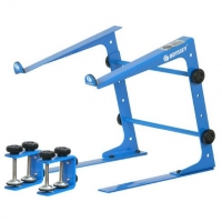 Odyssey LSTAND Laptop Stand Pro DJ Computer Bracket w/ 3 Configurations - Blue