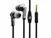 HTC One M8 Stereo Inside The Ear Headphones Built In Hands Free Microphone And Dynamic Driver Black With Square Shape