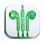 iMeshbean® 3.5mm Green Color Earbud Earphone Headset with Built-in Microphone & Volume Control USA