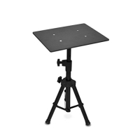 Pyle Laptop Projector Stand, Heavy Duty Tripod Height Adjustable 28'' To 46'' For DJ Presentations Notebook Computer