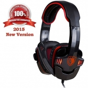 Gaming Headphone Headset Sades Sa708 Led Stereo Gaming Headphone with Microphone for Pc Computer Laptop