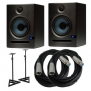 PreSonus Eris E5 2-Way 5.25 Nearfield Studio Monitor Pair w/ Stands & Cables