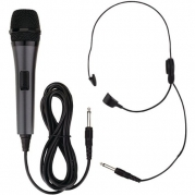 Professional Dynamic Microphone with Detachable Cord & Headset Microphone - EMERSON