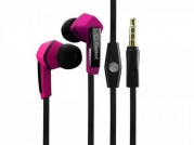 Samsung Galaxy S4 Active Stereo Inside The Ear Headphones Built In Hands Free Microphone And Dynamic Driver Pink With Square Shape