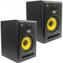 Seismic Audio - Spectra-6P-Pair - Pair of Active 2-Way 6 Studio Reference Monitors - 75 Watts RMS - Studio Monitors