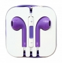 Zeimax® Earbuds EarPods With Mic and Remote Earphone Headphone Compatible with iPhone 3/4/5, Ipad, Ipod Type L (Purple)