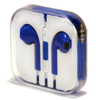 Zeimax® Earbuds EarPods With Mic and Remote Earphone Headphone Compatible with iPhone 3/4/5, Ipad, Ipod Type L (Blue)